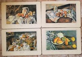"4 Cork Placemats Place Mats Paul Cezanne Still Life Paintings 16 7/8"" x ... - $14.99"