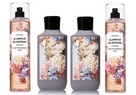Bath & Body Works Almond Blossom 4 Piece Set - Body Lotion & Fragrance Mist - $43.50