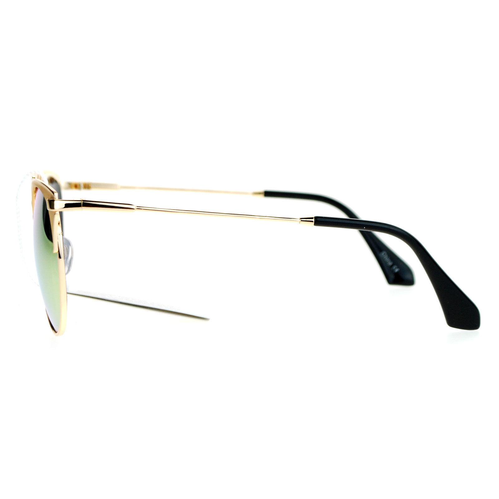 Womens Designer Fashion Sunglasses Round Retro Metal Frame UV 400