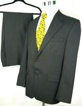 Chaps Ralph Lauren Mens Suit Size 40 Regular 35 x 32 Brown Gray Plaid 10... - $70.45