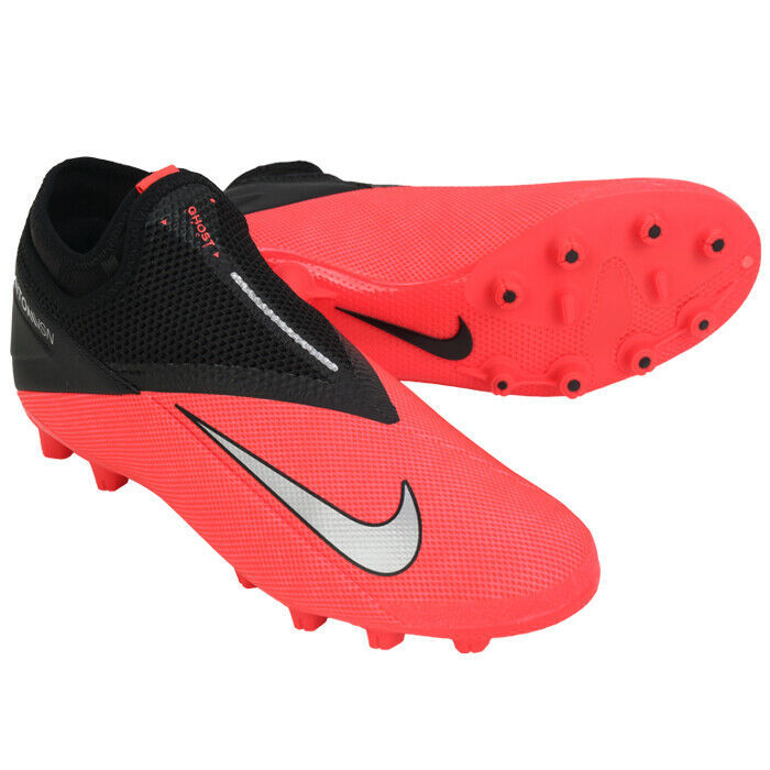 Nike Phantom VSN 2 Academy DF HG Football Shoes Soccer Cleats Red CD4157-606 - $97.99