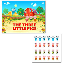 Three Little Pigs – Pin the Pig Birthday Party Game - ₨1,573.34 INR