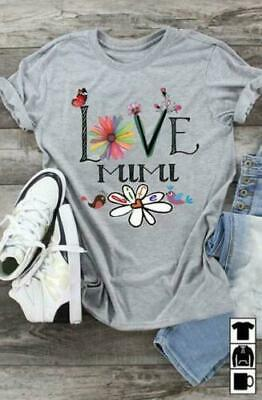 Love Mimi Ver 2 Ladies T-Shirt Grey Cotton S-3XL Made in USA - $19.75