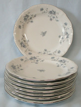 Johann Haviland Bavaria Blue Garland Platinum Bread or Dessert Plate, Se... - $32.56