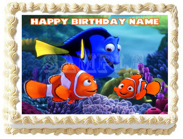 FINDING NEMO Image Edible cake topper Birthday party decoration - $6.50+