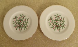Lenox PRESIDENTIAL SPECIAL Bread Plate (s) LOT OF 2 Holiday Large Decal - $16.78
