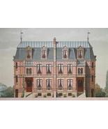 ARCHITECTURE Color Print - VICTORIAN Brick Mansions Rue du Ranelagh Paris - $49.50