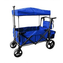 Push and Pull Handle with Wide Off Road All Terrain Tires Folding Stroll... - $219.01