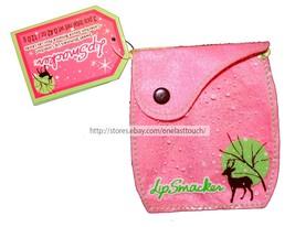 Lip Smacker* 1pc Empty Bag Coin Purse Sweet Shimmers Pink Felt+Reindeer New! 1a - $2.48