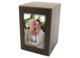 Adult 200 Cubic Inch Photo Funeral Cremation Urn for Ashes and Frame Kee... - $149.99