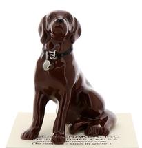 Hagen-Renaker Miniature Ceramic Dog Figurine Chocolate Labrador Sitting image 1