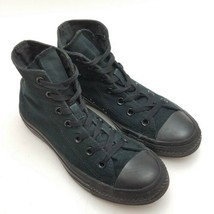 Converse All Star High Top Black Monochrome Canvas Shoes womens 7.5 mens 5.5 - $24.87