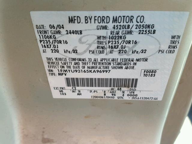 AC Condenser Fits 05-07 ESCAPE 238321