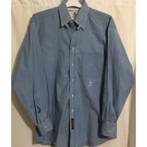 Tommy Hilfiger Size 15-33 Dress Shirt Blue Chambray Cotton - $19.79