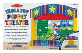 Melissa & Doug Tabletop Puppet Theater - Sturdy Wooden Construction - $64.99