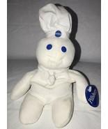 "1997 8"" Pillsbury Dough Boy Bean Bag Plush Doll - New With Tags - $12.86"