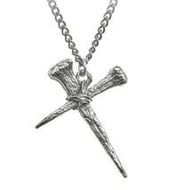 Alchemy Gothic Resurrection Pendant Nails Cross Fine English Pewter P885... - $22.45