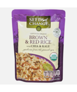 6 Packs Seeds Of Change Organic Brown & Red Rice with Chia & Kale, 8.5 oz - $32.66
