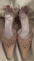light nude sz St pointy M 8 brown Sacha strap ankle heels Koch beige womens too CRwSzgq