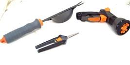 3 Piece Garden Tool Set, Nozzle, Weeder, Pruner Gardening Garden Tools - $9.89