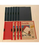 DuraClip Lot of 11 Report Covers Vinyl Letter Size Holds 30 Pages Red Na... - $29.99