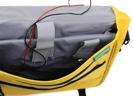 NEW ECO TRAVELER SOLAR PANEL LAPTOP BOOKS MESSENGER SHOULDER BAG YELLOW ET0120Y image 4