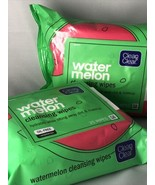 Lot Of 2 CLEAN & CLEAR WATERMELON CLEANSING WIPES  OIL FREE 25 WIPES EACH  USA - $12.95