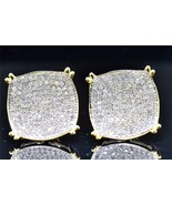 1.40Ct 14K Yellow Gold Fn Square Shape Sim.Diamond Studs Earrings Screw ... - $69.99