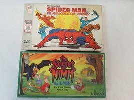 Lot of 2 1977 Spider-Man 1983 & Secret of Nimh Vintage Complete Board Games - $47.52