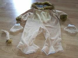 Infant Size 12-18 Months Plush Lion Halloween Costume Hood Jumpsuit Mitt... - $28.00