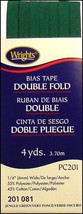 """Wrights ¼"""" Double Fold bias tape PC 201 - 5 New in package Jungle Green 201 081  - $7.95"""