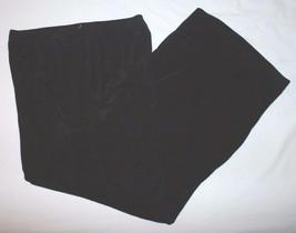 Chicos Travelers Sz 1 S 8 Black Capri Pants Elastic Stretch Womens - $31.93