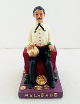 5 Inch Statue Jesus Malverde Sitting Religious Figurine Mexico Estatua - $18.00