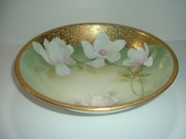 RS Germany Tillowitz Bowl with White Flowers & Gold - $29.99