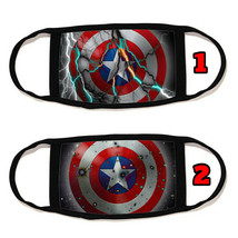 Captain America Face Mask Cotton material Reusable Washable Made in US #13 - $11.63+
