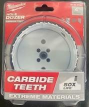 """Milwaukee 49-56-0742 4"""" Carbide Tooth Hole Dozer Hole Saw USA - $37.62"""
