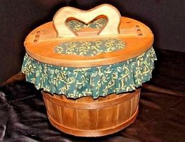 Picnic BasketAA18-1230 Vintage Handmade Lined Woven image 2