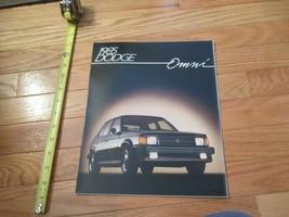 Dodge Omni 1985 Car truck Dealer Showroom Sales Brochure - $9.99