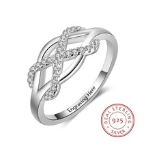 Personalized Infinity 925 Sterling Silver Rings For Wedding - $9.99