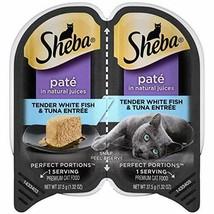 Sheba Perfect Portions Paté Wet Cat Food Trays Whitefish & Tuna - $27.91