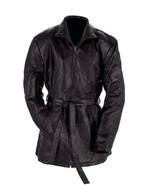 Giovanni Navarre Italian Stone Design Ladies Leather Jacket Zip Belt Lin... - $59.99