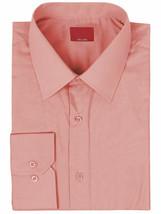 vkwear Red Label Men's Slim Fit Long Sleeve Dusty Pink Button Up Dress Shirt 2XL