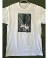 Unisex Medium Cat Art T-Shirt - Small Cat in Flower - $20.00