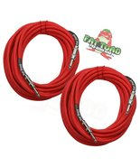 """1/4"""" to 1/4 Male Jack Speaker Cables (2 Pack) by FAT TOAD - 25ft Profess... - $39.95"""