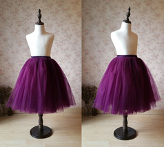 Plum Little Girl Tulle Skirt for Dress up and Fairy Costumes 1-16 image 2