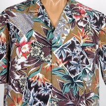 VTG Royal Creations Hawaiian Aloha Shirt Mens XL RP Orchids PalmTapa Wel... - $28.04