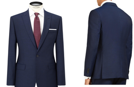 Daniel Hechter Mens Pindot Tailored Suit Jacket, Navy - UK Size 40L RRP ... - $155.40