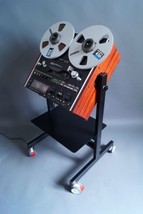 NEW CUSTOMISED Cart Stand for TEAC Reel to Reel Recorder with Shelf - $287.05