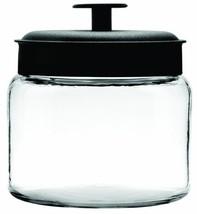 Anchor Hocking Montana Glass Jars with Fresh Sealed Lids, Black Metal, 6... - $39.61