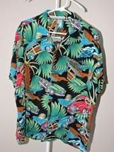 Pineapple Connection Vintage Hawaiian Shirt Woody Wagons Woodie Beach Ca... - $21.24